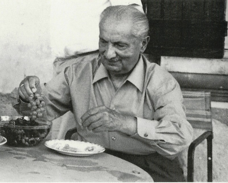 Martin Heidegger (Photo: François Fédier: Soixante-deux photographies de Martin Heidegger, Paris, Gallimard 1999, 25)